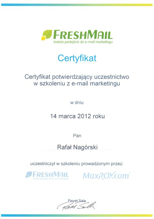 Email marketing - FreshMail